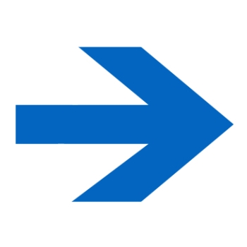 The image shows a blue arrow pointing to the right.