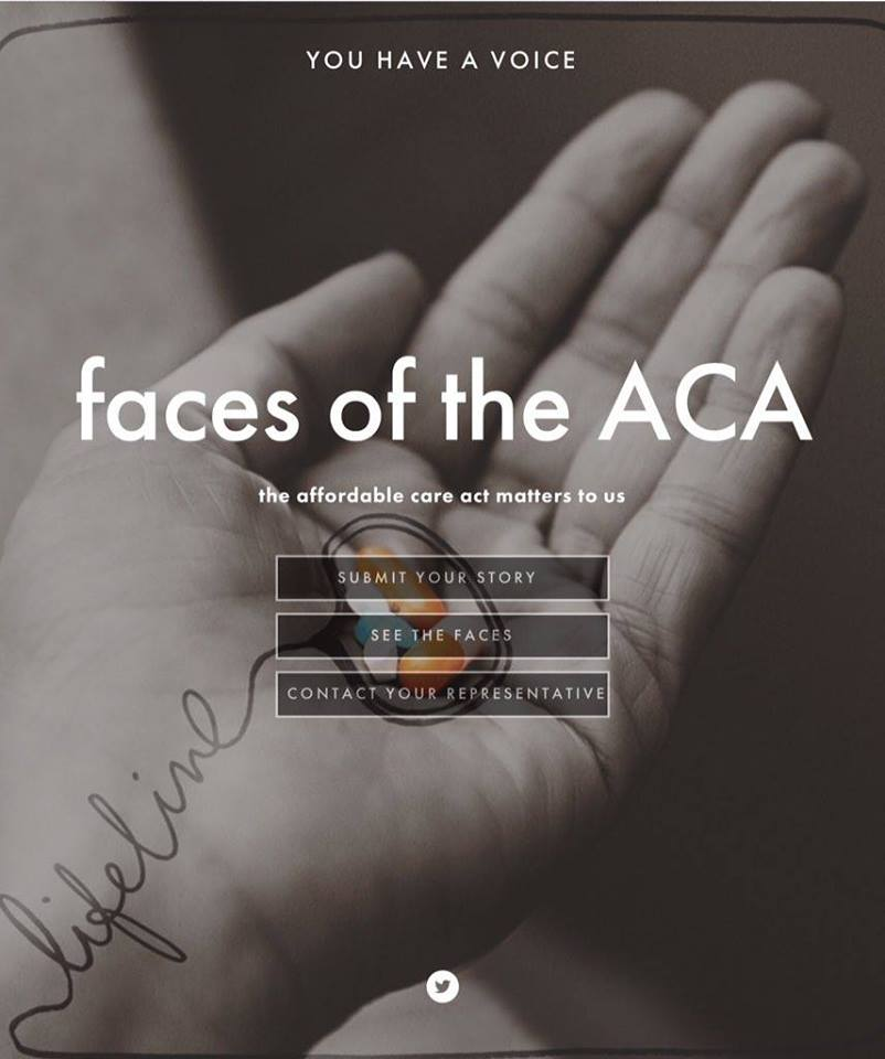 Action of the day: share your story at Faces of the ACA