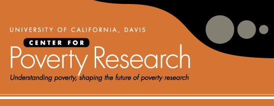 The image shows the logo for the University of California's Center for Poverty Research