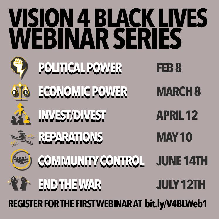 Action of the day: register for the #Vision4BlackLives webinar series